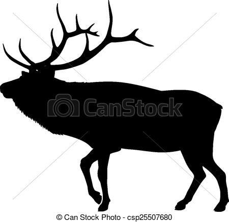 svg royalty free Elk clipart. Vector silhouette stock illustration