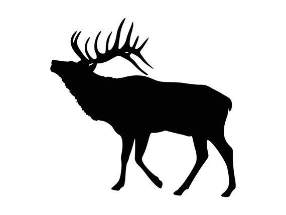 image freeuse Svg hunting silhouette cutting. Elk clipart.