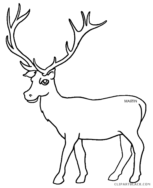 clip royalty free stock Clipartblack com animal free. Elk clipart