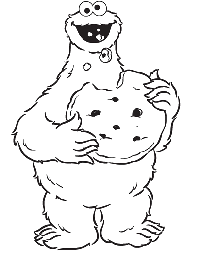 freeuse Cookie Monster Eating Cookies Are Great Coloring Pages
