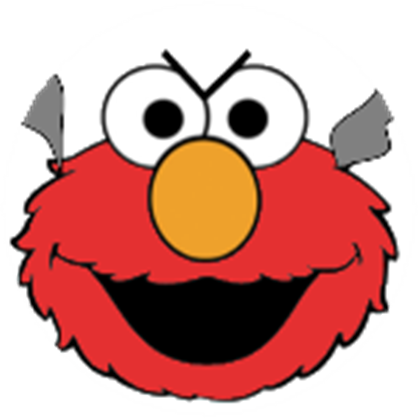 clipart black and white stock Angry Elmo