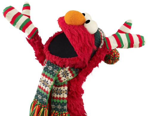 svg freeuse Elmo loves winter