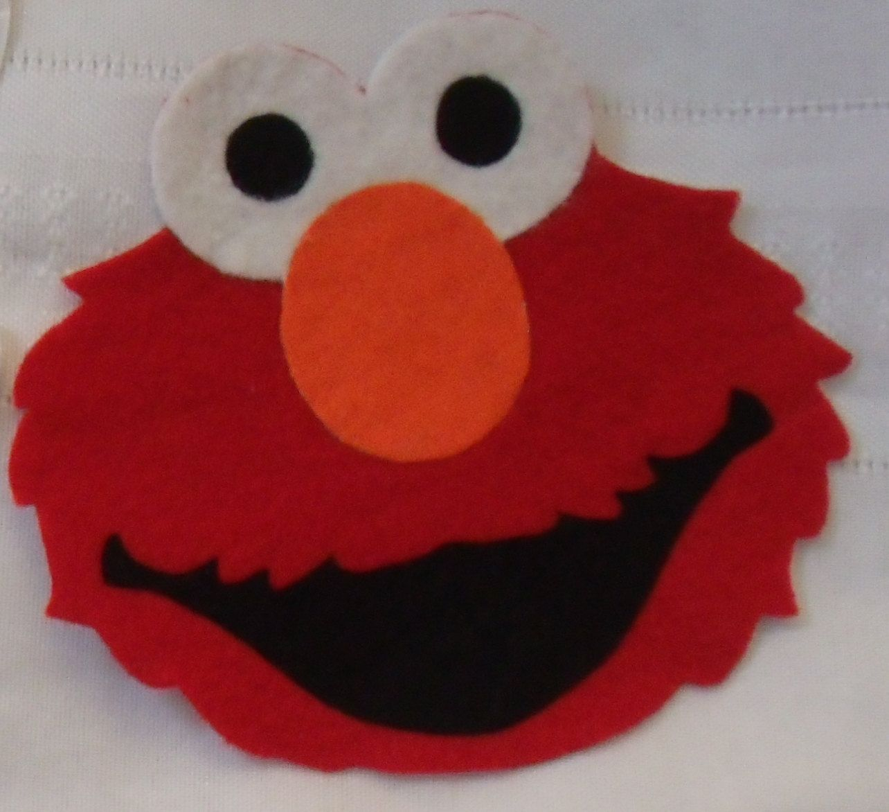 picture royalty free download Handmade Elmo Inspired Iron On Felt Applique