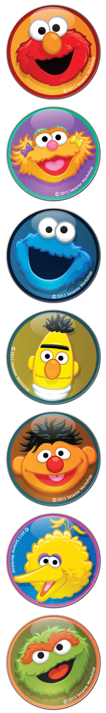picture freeuse stock Sesame Street Vector Icons by