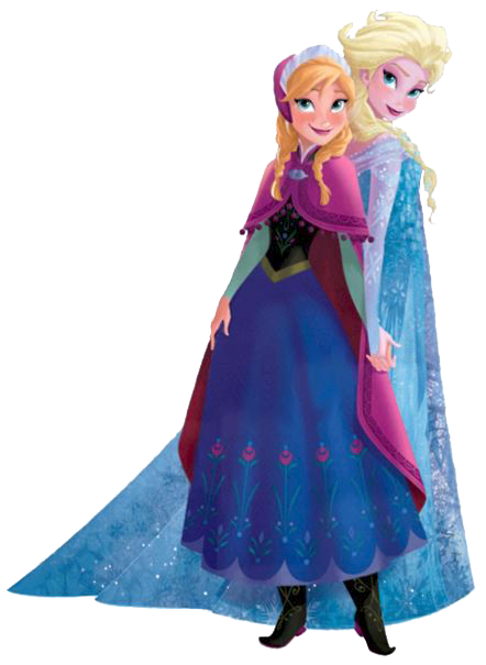 graphic library download Elsa And Anna Clipart