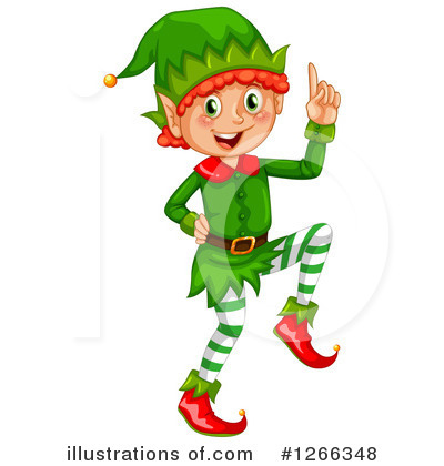 clip art freeuse download Elves clipart. Christmas elf illustration by.