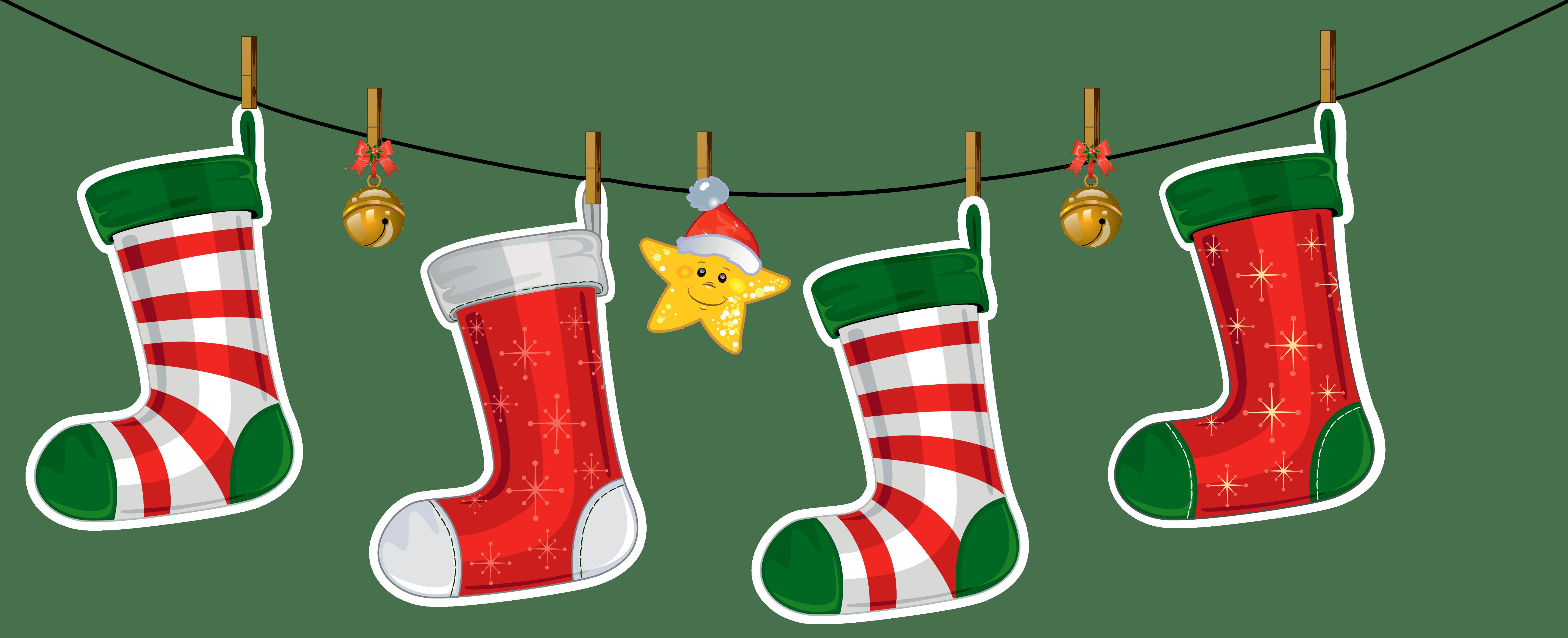 freeuse Christmas Socks Clipart