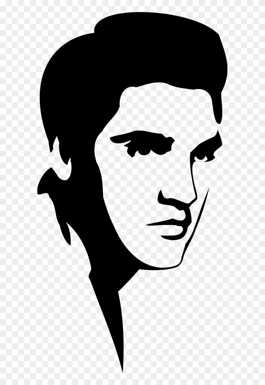 svg transparent Presley stencil svg . Elvis clipart.