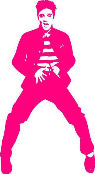 freeuse stock Pink clip art at. Elvis clipart name
