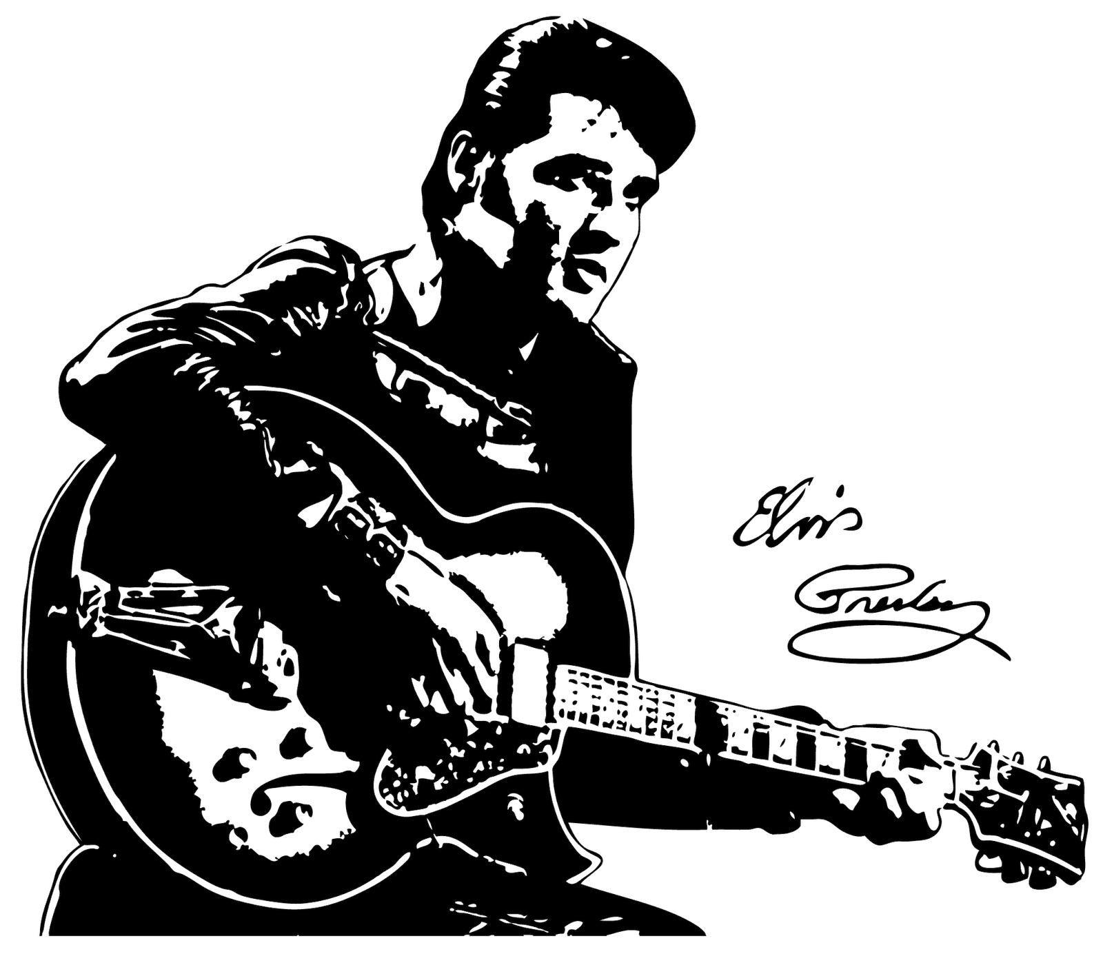 clip art transparent library Elvis Line Drawing at GetDrawings