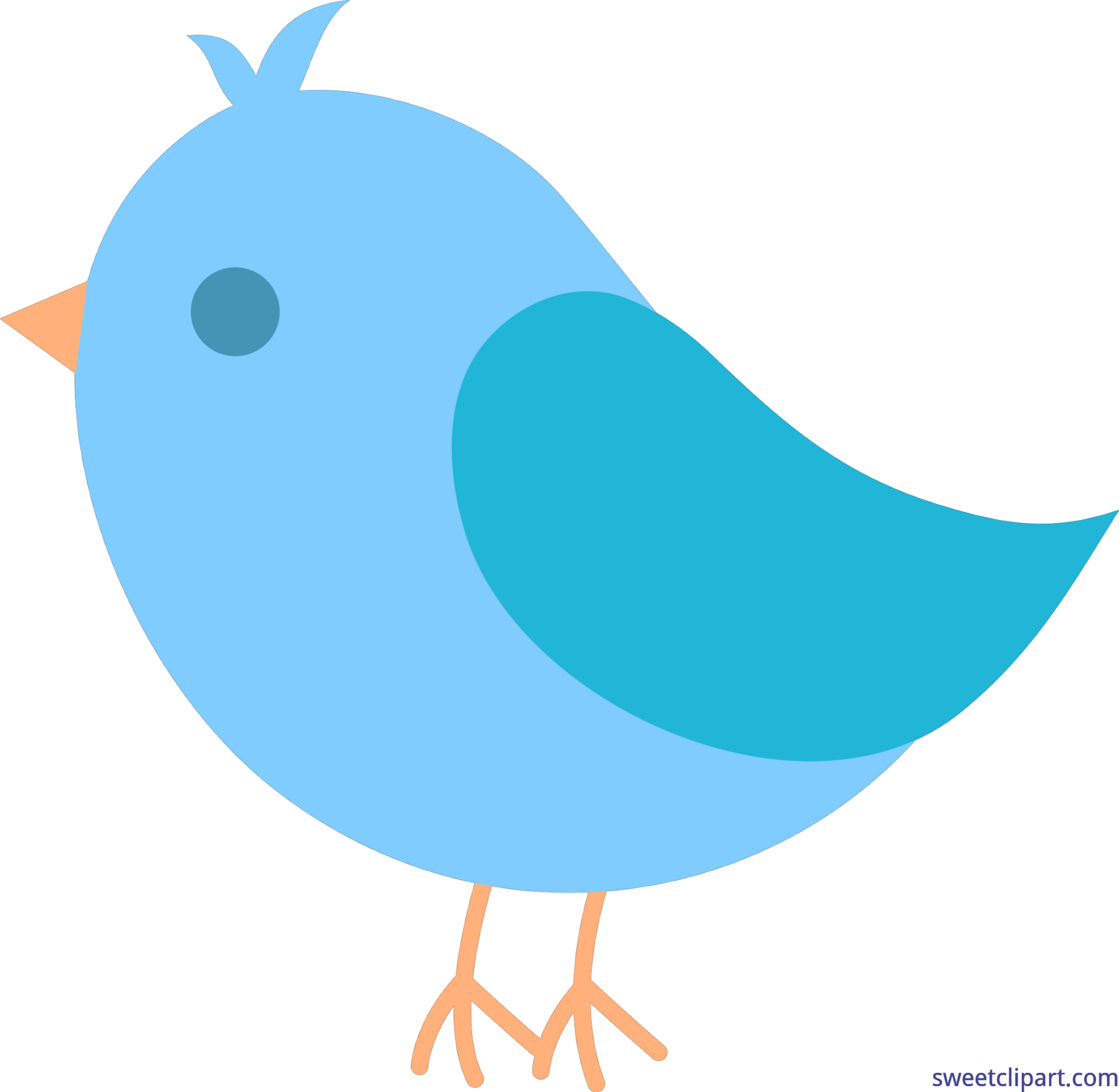 png black and white stock Cute birds clipart. Blue bird clip art