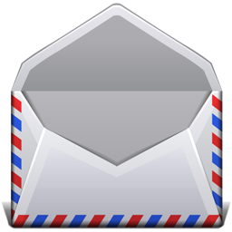 picture free stock Open Red White And Blue Envelope Icon