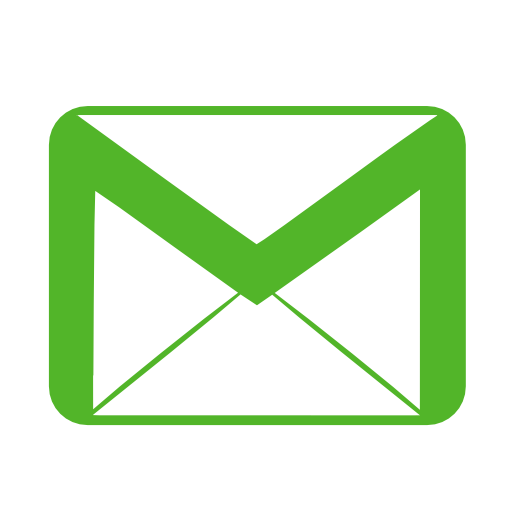 vector black and white stock Communication email green Icon