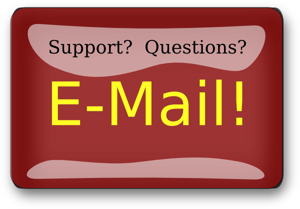 banner black and white Red Rectangle Support Email Button Clip Art at Clker