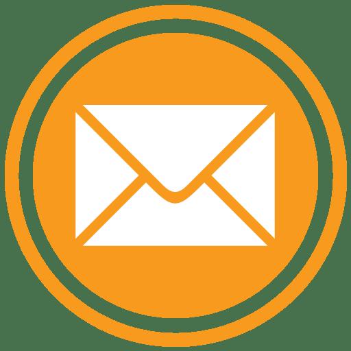 banner freeuse download Email transparent. Icon orange png stickpng