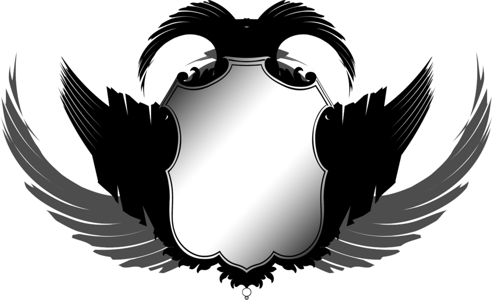 vector black and white Wings Emblem Vector