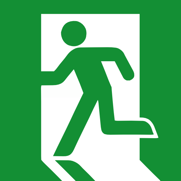 clip freeuse stock Emergency clipart. Exit sign clip art.