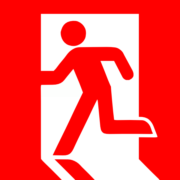 clip freeuse download Emergency Exit Clip Art at Clker