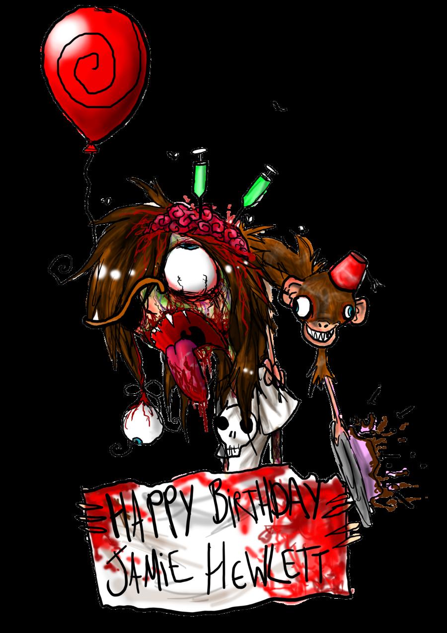 clipart royalty free Birthday jamie hewlett by. Emo transparent happy bday