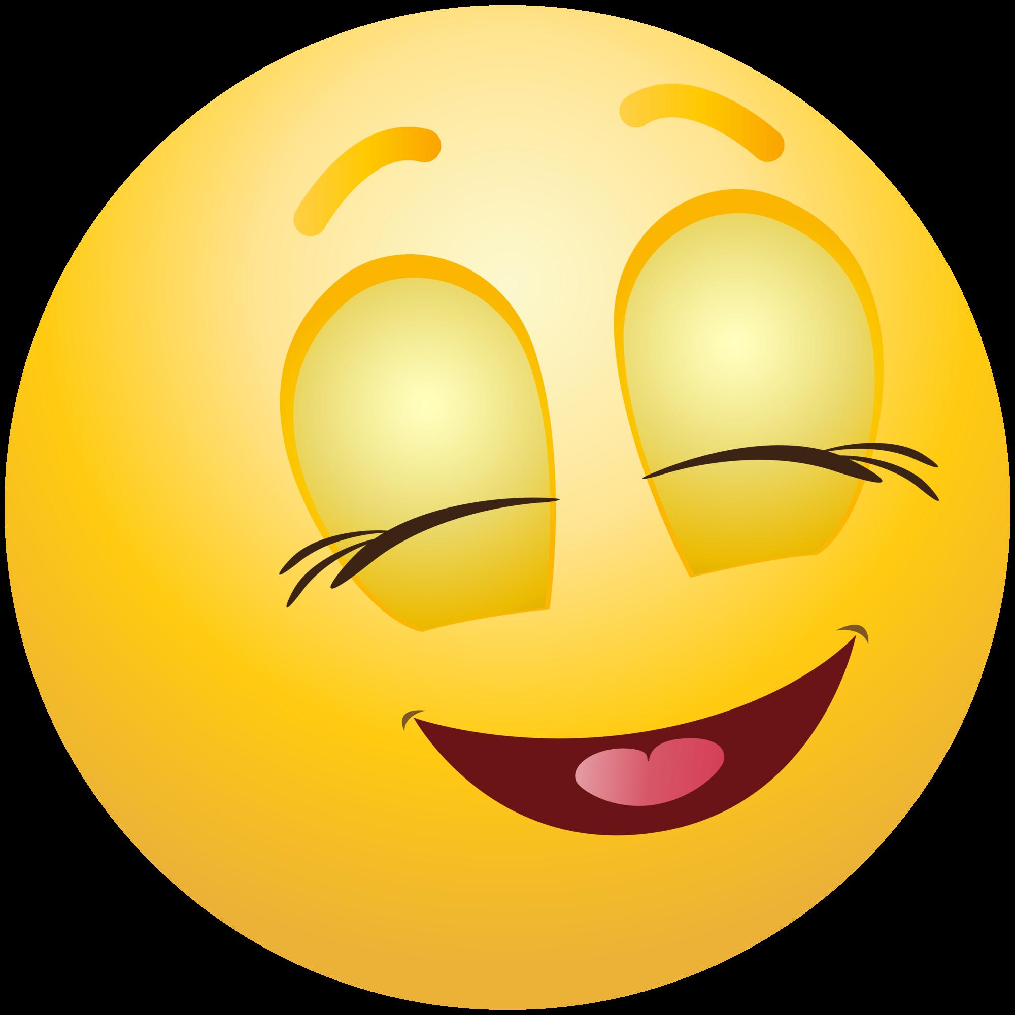 graphic black and white stock Pleased emoticon info . Emoji clipart