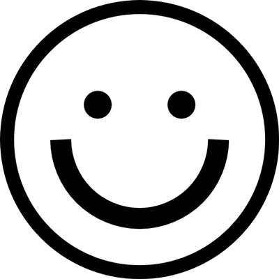 vector royalty free download Black and White Smiley transparent PNG