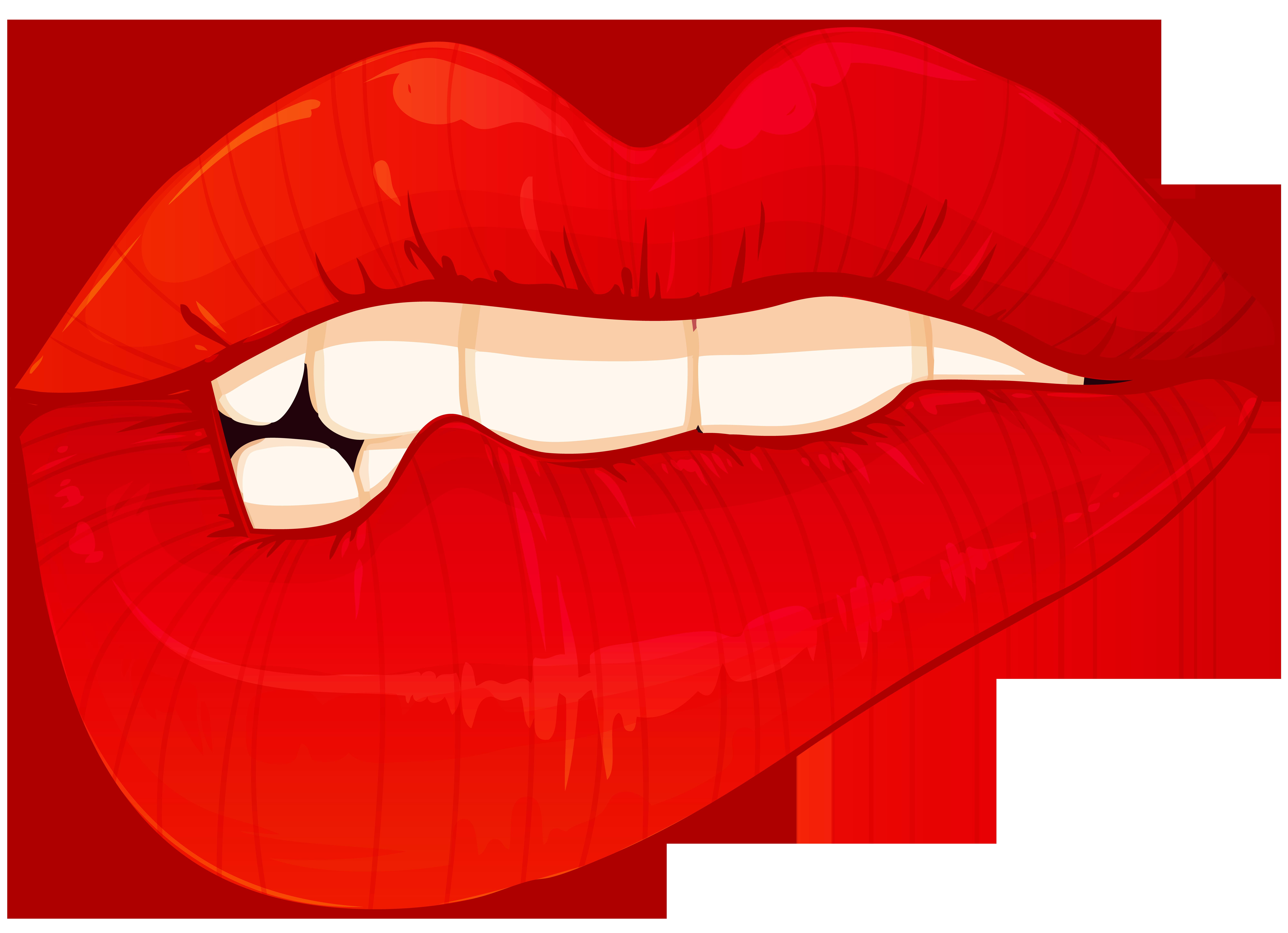 picture transparent Vampir clipart money. Biting lips png clip
