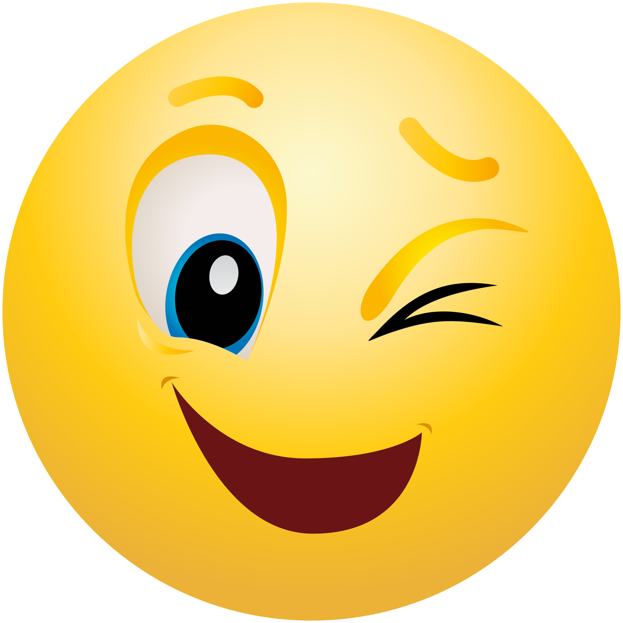 free stock Emoji clipart. Winking emoticon info