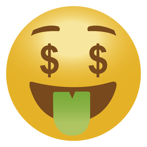 graphic free library Money emoji transparent png. Vector emojis emoticon