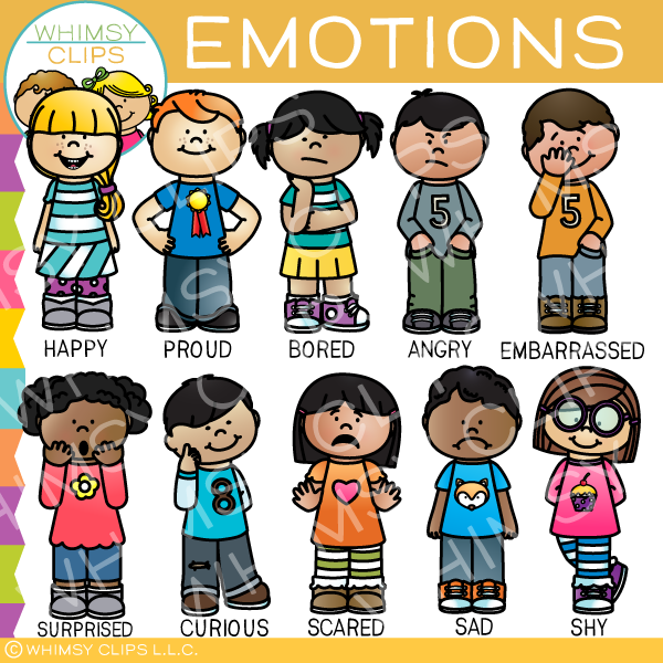 picture freeuse library Emotions clipart. Kids clip art .