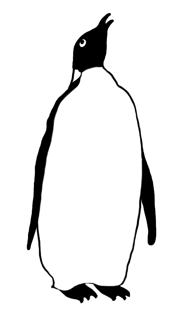 black and white stock emperor penguin clipart black and white #58486409
