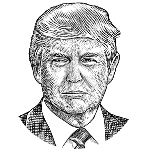 banner transparent library Where donald trump stands. Drawing portrait black and white
