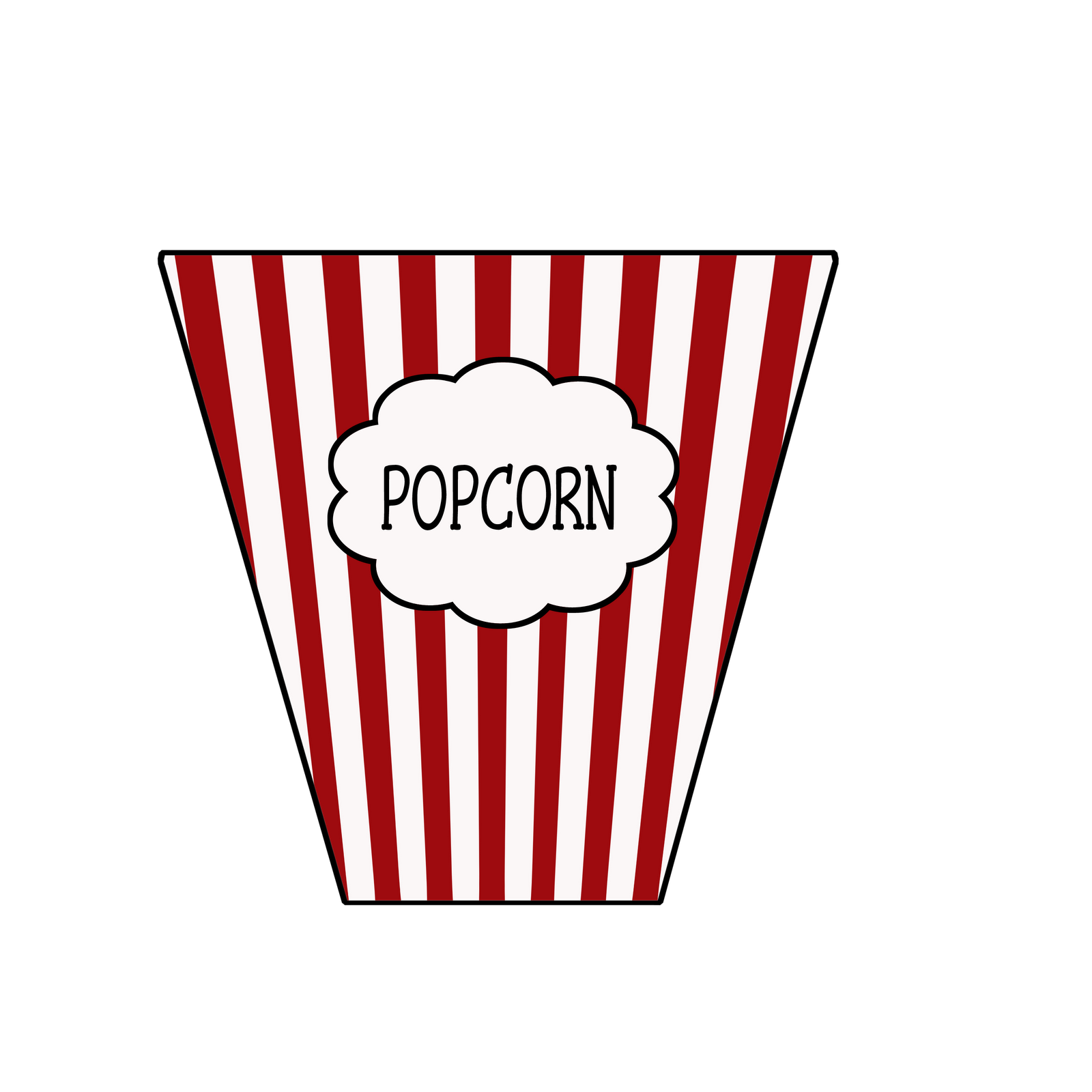 picture royalty free library Popcorn Bag Clipart