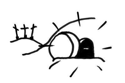 graphic library stock Free black and white. Empty tomb clipart.