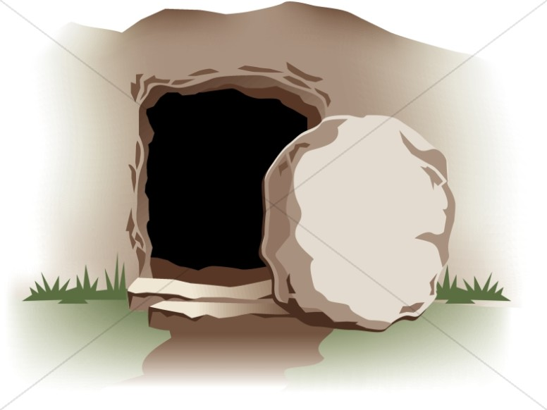 image library Empty tomb clipart. With stone easter