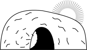 jpg free library White clip art at. Empty tomb clipart.