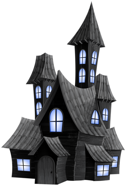 image black and white stock Halloween Scary House Transparent PNG Image
