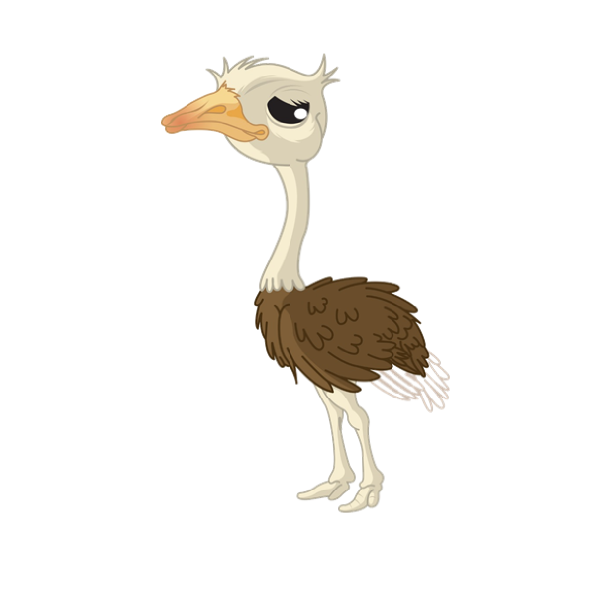 banner library Common ostrich Cartoon Drawing