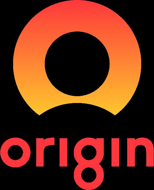 banner black and white stock Download Origin Energy vector logo