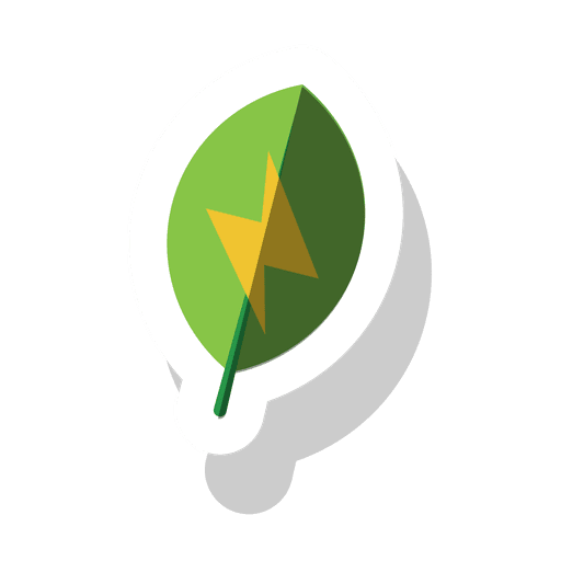 picture freeuse download Leaf energy sticker