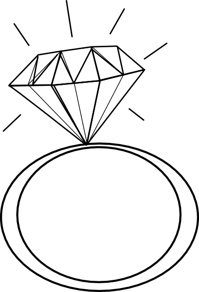 svg library Engagement Ring Cartoon