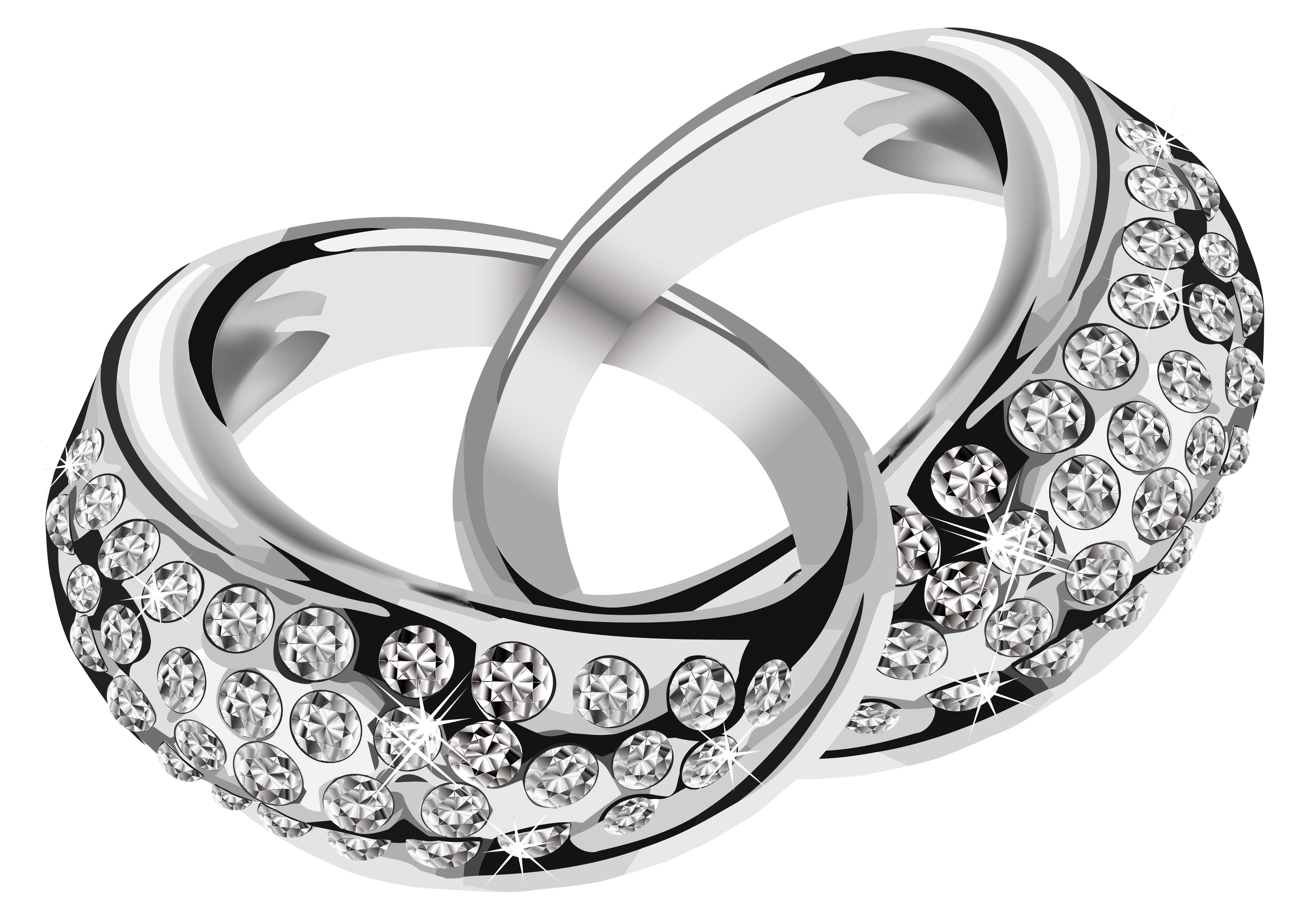 clip art royalty free stock Wedding rings black and white clipart. Pin by nick smith