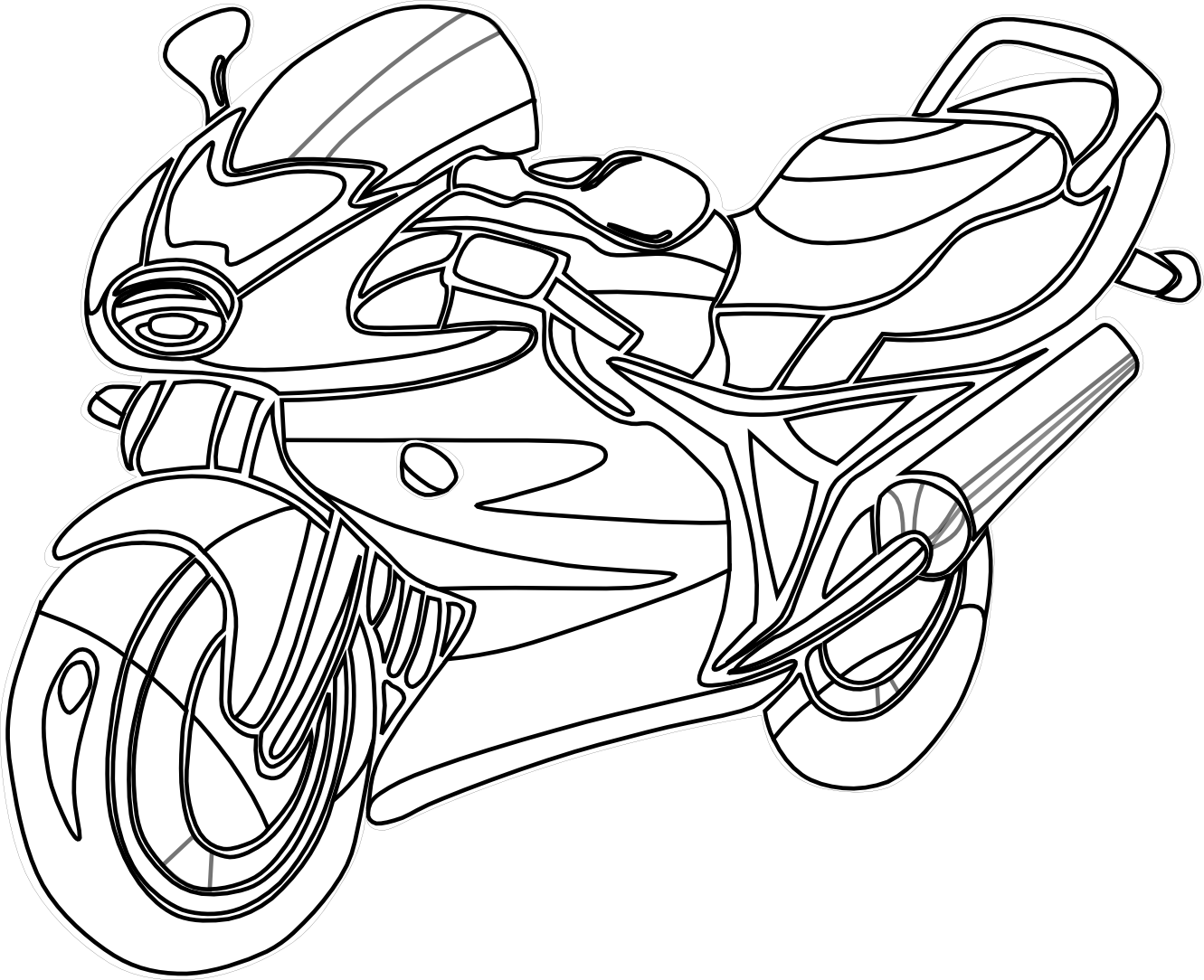 clipart free stock Motorcycle panda free images. Transportation clipart black and white