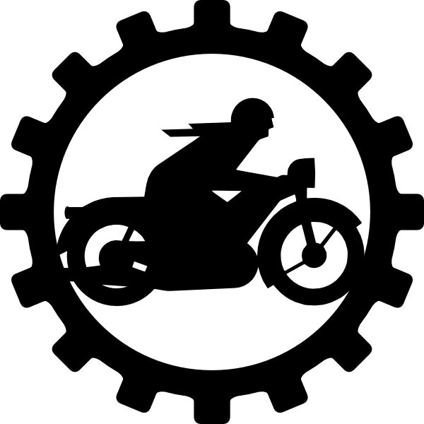 picture transparent library Oldtimer Motorcycle Mechanic Clip Art at Clker