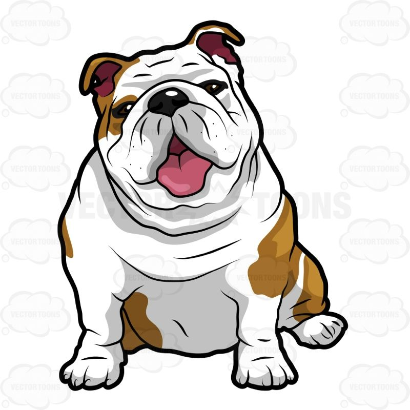 svg library download Vector bulldog english. Cartoon wrinkly sitting with