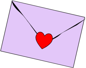 svg transparent stock Heart Envelope Clipart