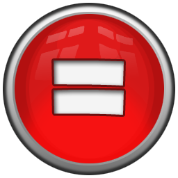 jpg black and white download Red Equal Sign Icon