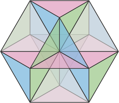 freeuse Tagged hexnet a cuboctahedron. Equilibrium vector