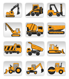 vector freeuse library Construction Equipment image
