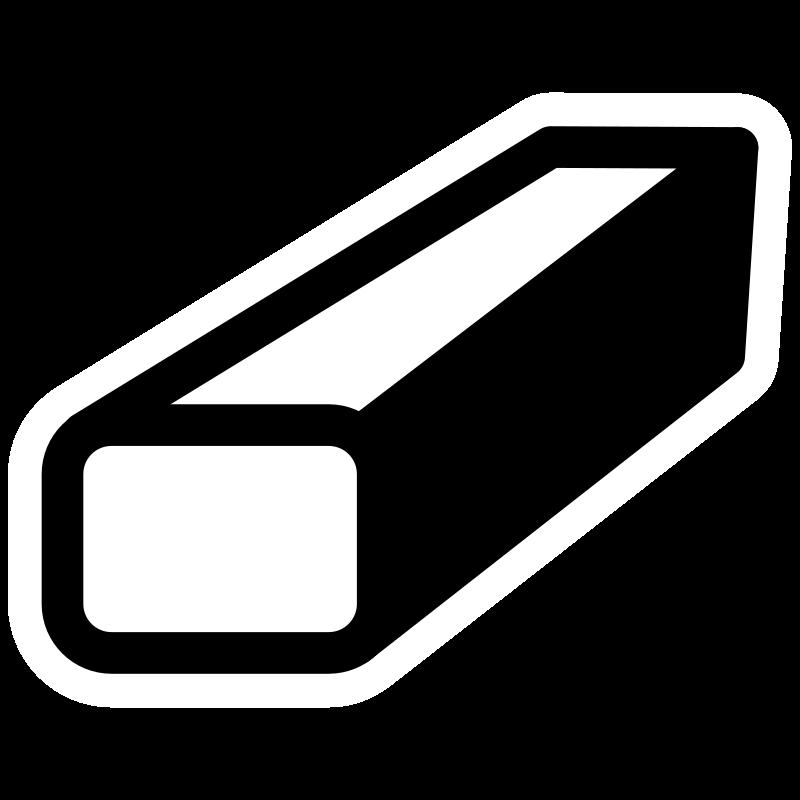 graphic black and white stock Eraser clipart black and white. Mono tool medium image