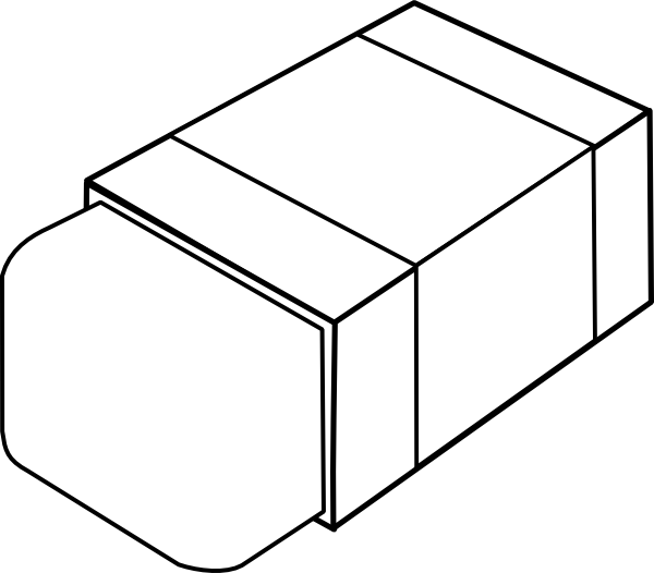 graphic library library Eraser clipart black and white. Clip art at clker